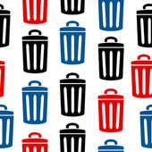 Garbage icon seamless pattern — Stock Vector
