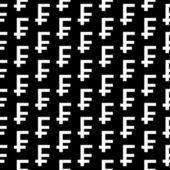 Swiss franc symbol seamless pattern — Stock Vector