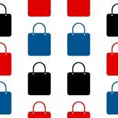 Shopping bag symbol seamless pattern — Stock Vector