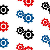 Settings symbol seamless pattern — ストックベクタ