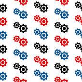 Settings symbol seamless pattern — Stock Vector