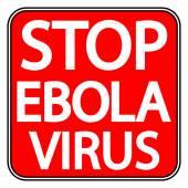 Panneau d'arrêt ebola — Vecteur