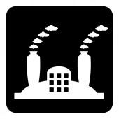 Factory symbol button — ストックベクタ