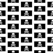 Jolly Roger seamless pattern — Stock Vector
