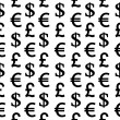 Currency symbols seamless pattern on white — Stock Vector #56071655