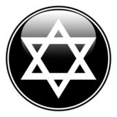 Magen David symbol button — Stock Vector