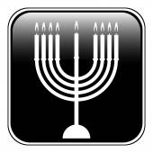 Chanukah symbol button — Stockvektor