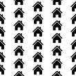 Home icon seamless pattern — Stock Vector #56286939