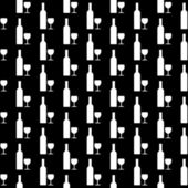 Bottle and glasse icon seamless pattern — Vetorial Stock