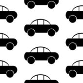 Car icon seamless pattern — Stock Vector