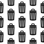 Garbage icon seamless pattern — Vector de stock