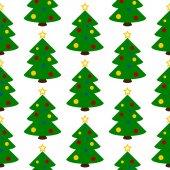 символ рождественской елки бесшовный образец — Cтоковый вектор