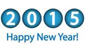 Felice nuovo anno 2015 — Vettoriale Stock