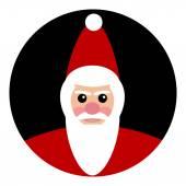 Santa Claus icon — Stock Vector