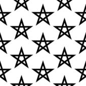 Pentagram button seamless pattern — Stock Vector