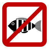 Sign of prohibited fishing — Stock Vector
