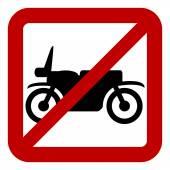 No motorcycle sign — Stock Vector