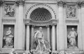 Sculptures of Trevi Fountain. — Stock Photo