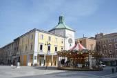 The Piazza Tre Martiri in the center of Rimini — Foto de Stock