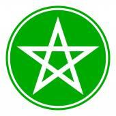 Pentagram button — Stock Vector