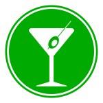 Martini glass button — Stock Vector #58821271