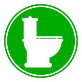 Toilet button — Stock Vector