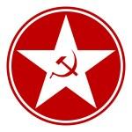 Communism star button — Stock Vector #59035133