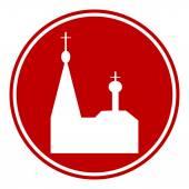 Orthodox church button — Stock Vector