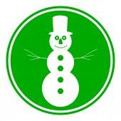 Snowman button — Cтоковый вектор
