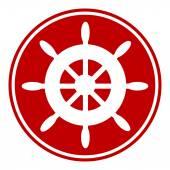 Steering wheel button — Stock Vector