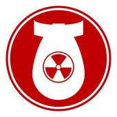 Bomb button — Stock Vector