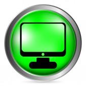 Computer button — Stock Vector