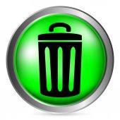 Garbage button — Stock Vector