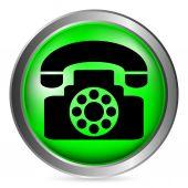 Pulsante telefono — Vettoriale Stock
