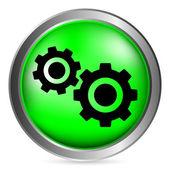 Settings button — Stock Vector