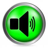 Speaker volume button — Stock Vector