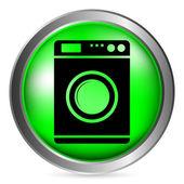 Washing machine button — Stock Vector