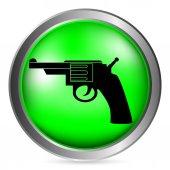 Revolver button — Stock Vector