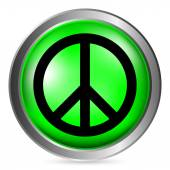 Peace symbol buttom — Stock Vector