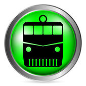 Locomotive button — Stock Vector