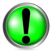 Exclamation mark button — Stock Vector