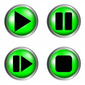 Play, pause, stop, forward buttons set — Stock Vector