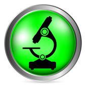 Microscope button — Stock Vector