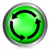Arrows circle button — Stock Vector