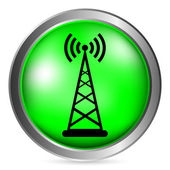 Transmitter button — Stock Vector