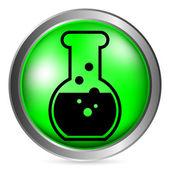 Laboratory glass button — Stock Vector