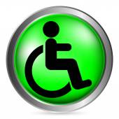 Disabled sign button — Stock Vector