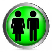 Male and Female button — Stock Vector
