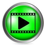 Film strip button — Stock Vector #60070229