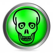 Zombie button — Stock Vector